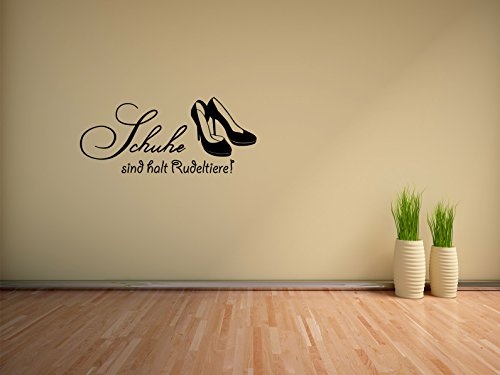 Comedy Wall Art Schuhe sind Halt Rudeltiere! - Schwarz - ca. 35 x 15 cm
