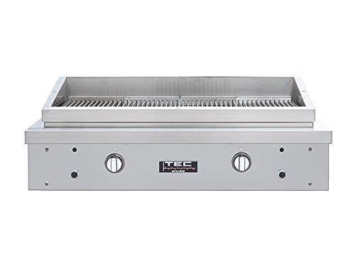 TEC 44-inch Searmaster Hoodless Sideburner/Grill with Full Warming Rack (SEAR2NT-PFR2WR39), Natural Gas