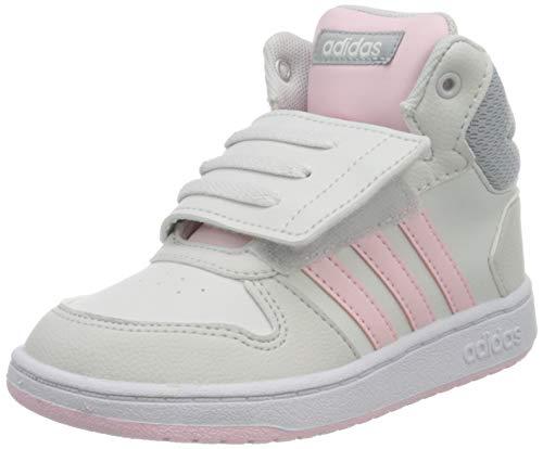 adidas Unisex Baby Hoops Mid 2.0 Sneaker, Dash Grey/Clear Pink/Halo Silver, 20 EU