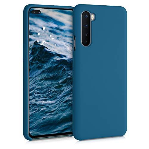 kwmobile Cover Compatibile con OnePlus Nord - Custodia in Silicone TPU - Back Case Protezione Cellulare Petrolio Matt