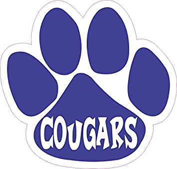 Amazon.com: StickerTalk Paw Print with Cougar Mascot Vinyl Sticker, 5  inches by 4.75 inches : Automotive