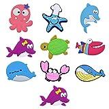 Lurrose 10Pcs Mar Animais Geladeira Ímãs Animal Do Oceano Brinquedos Do Bebê Dos Desenhos Animados Ímãs de Geladeira para Lousa Magnética Ímãs