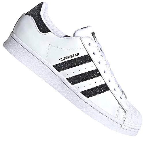adidas Originals X Swarowski Superstar FX7480 - Zapatillas deportivas, color blanco y negro, color Blanco, talla 40 EU