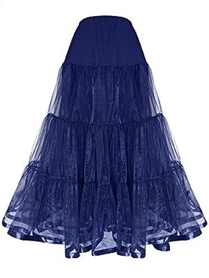 Shimaly Women's Floor Length Wedding Petticoat Long Underskirt for Formal Dress