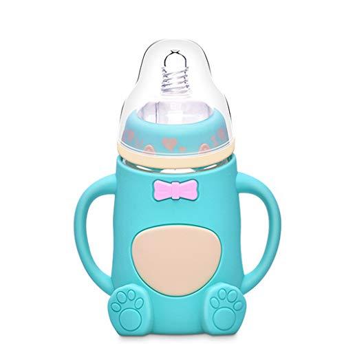Xuthuly bébé préféré Alimentation sûre Bouteille de Lait Goutte Anti-Flatulence biberon Silicone de Gros Calibre