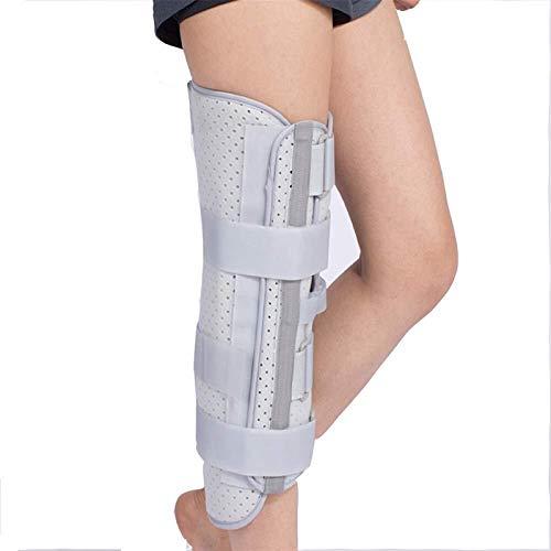 Soporte de la articulación de la rodilla Ortesis de la ortesis de la ortesis transpirable Pierna completa Estabilizador de la protección de la protección de la correa de la correa fractura Férula fija