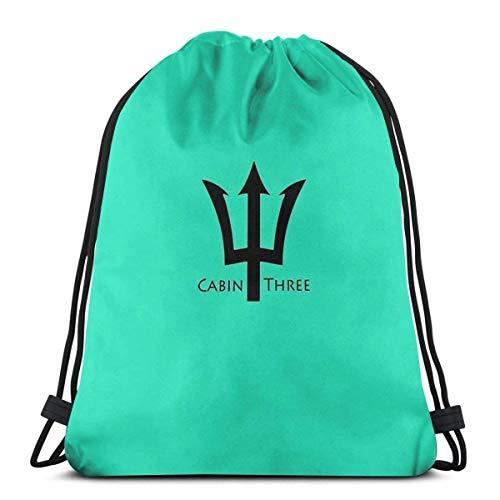 IUBBKI Cabin Three - Sea Foam Green Waterproof Foldable Sport Sackpack Gym Bag Sack Drawstring Backpack