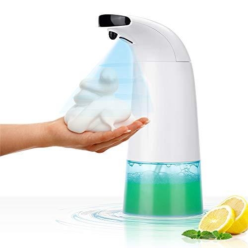Manfore Seifenspender Automatisch 250ml, Schäumende Seifenspender mit Sensor Infrarot, Berührungslos Schaumseifenspender,Zwei einstellbare Schaumvolumina für Bad & Küche