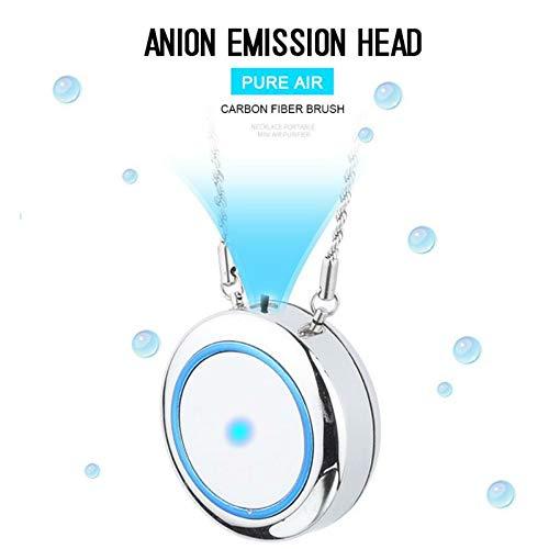 WLL Tragbare USB wiederaufladbare tragbare Luftreiniger-Halskette, Mini-Lufterfrischer-Ionisator, für Kinder, Schwangere, Allergien, Asthma, verstopfte Nase usw.