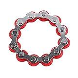 TOYANDONA Roller Kette Zappeln Spielzeug Fahrrad Kette Dekompression Spielzeug für Erwachsene (Rot)