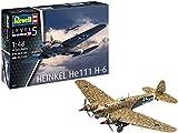 Revell 03863 Heinkel He111 H-6, 1:48 originalgetreuer Modellbausatz für Experten, farbig