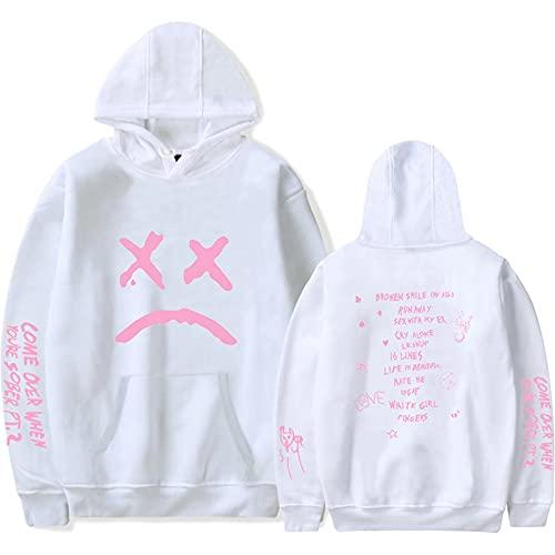 Lil Peep Sudaderas con capucha para hombre Chicas tristes Hell Boy Impreso Pullover Sudaderas Casual Hip Hop Harajuku Diseño Jersey con capucha con bolsillo, Lp 14, L