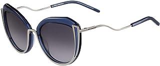 Karl Lagerfeld Oval Sunglasses for Women Black Grey Lens - Kl928S 528 5519