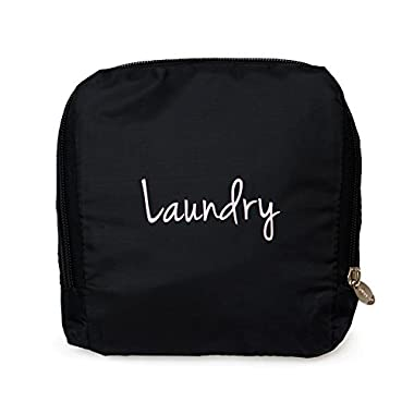 Miamica Women's Travel Laundry Bag, Black/Pink Oil Slick