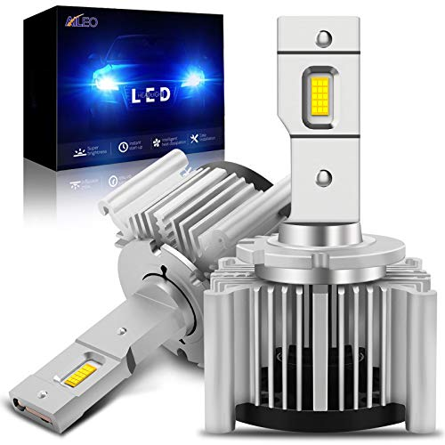 D1S D1R D1C LED Headlight Bulbs 6000K Xenon White 55W Extremely Bright 10000Lumens Canbus Error Free Replacement Plug and Play (2 Pack)