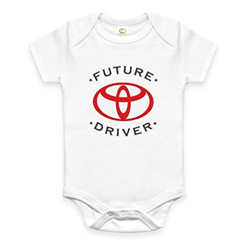Rare New Future Toyota Driver Funny Baby Clothes Cute Unisex Bodysuit Onesie Short Sleeve Romper One Piece Prime Outfits with Sayings Body Bébé (0-3 Mois)
