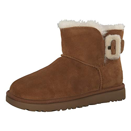 UGG - Stivali Mini Bailey Fluff Buckle - Chestnut, Taglia:41 EU
