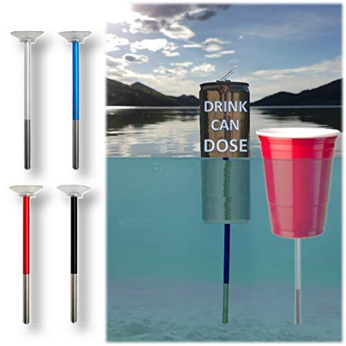 FloatingBob 4-Pack Schwimmaufsatz für Getränkedosen und Becher - Patentierter Getränkehalter Pool Wasser