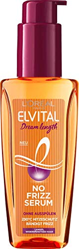 L\'Oréal Paris Elvital Dream Length No Frizz Serum 230 Grad Hitzeschutz bändigt Frizz Inhalt: 100ml Haaröl für langes, widerspenstiges Haar