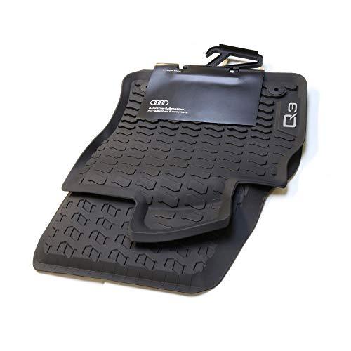 Audi 83B061501041 Premium Gummi Fußmatten vorn 2X Gummimatten Allwettermatten schwarz, mit Q3 Schriftzug