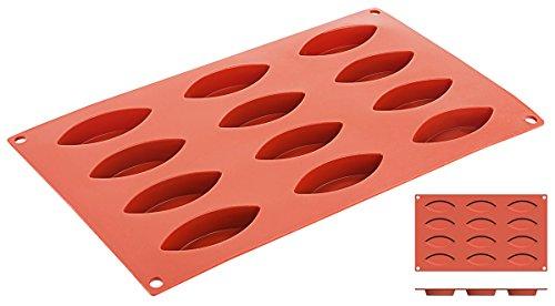 Silikon-Backmatte SCHIFFCHEN 12 Formen