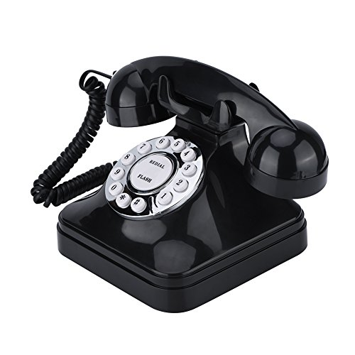 Vintage Phone/Retro Phone, Vintage Classic Multi Function Home Telephone Retro Wire Teléfono Fijo para Oficina casa - Negro