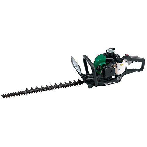 Draper 53015 Petrol Hedge Trimmer 550 mm, Green and Black