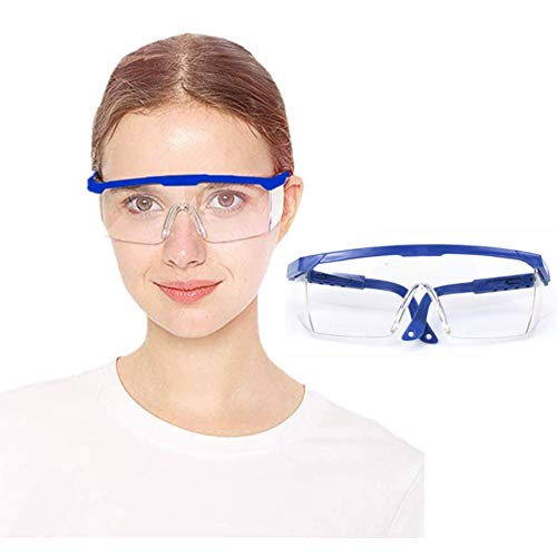 Gafas de Seguridad Gafas Protectoras Lentes de Seguridad Antivaho, para Laboratorio, Agricultura, Industria (Azul)