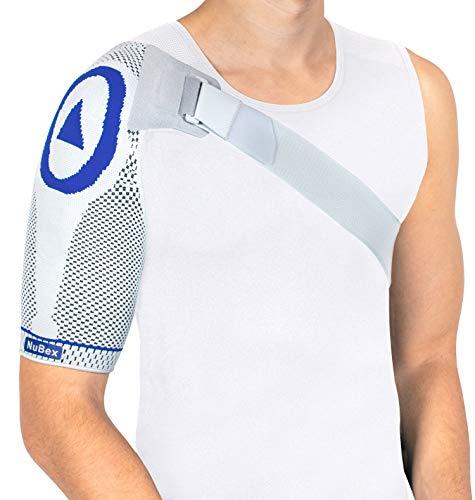 Nutrics | Aktiv Schulterbandage | Damen und Herren | Unterstützend am Schultergelenk | Designed in Germany (L, Rechte Schulter)