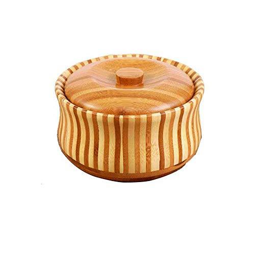Bols en bois en bois Soupe Bol nourriture saine Conteneur vintage Dîner Vaisselle 1J