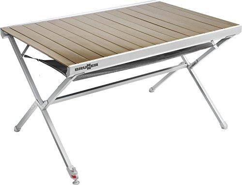 Brunner aluminium roltafel campingtafel titanium NG 4 122 x 79 cm bruin