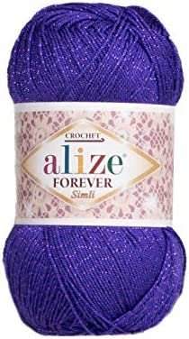 5 skn 5 Balls Alize Forever Simli Crochet Yarn Glitter Yarn Shawl Stocking Sweater Swimsuit product image