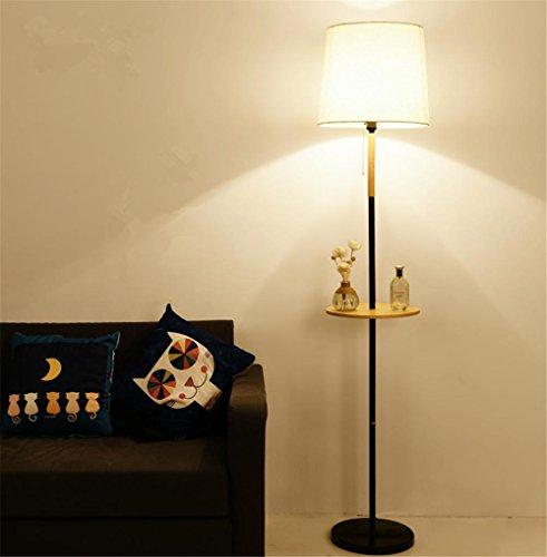 KDLD lampadaires ® Lampe de lin ombre peut être ajustée avec un commutateur au pied du salon lampadaire socle en marbre