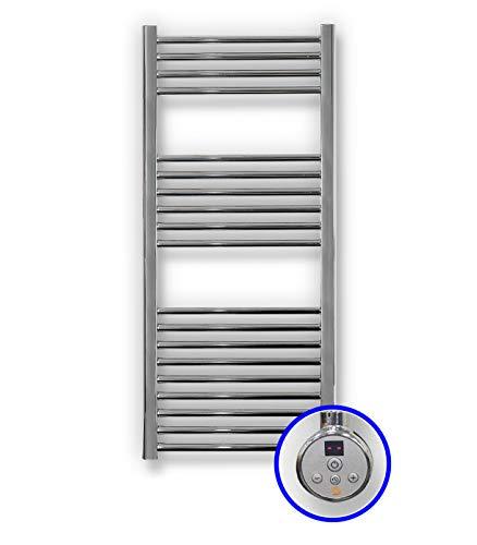Radiador Toallero Eléctrico Zeta E * Toalleros Eléctricos (Medidas 1200 x 500 mm) con Control TH02 * Secatoallas En Color Cromado * 2 AÑOS de Garantía
