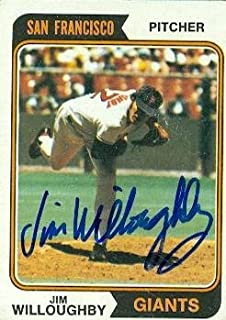 Autograph Warehouse 77436 Jim Willoughby Autographed Baseball Card San Francisco Giants 1974 Topps No .553