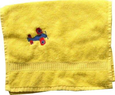 Handdoek met Borduren Vliegtuig