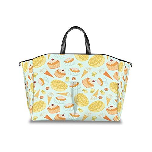 Bolsa de pañales para tartas con cono de helado, organizador multifuncional para cochecito de bebé, impermeable, para mamá, bolsas de viaje con correa de velcro ajustable
