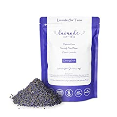 >> LAVANDULA DENTATA French lavender - Organic, Gluten-Free, Non-GMO, Authentic 100% whole natural lavender flower buds dried - 4 ounces bag (Starter). >> LAVANDE SUR TERRE - French origin lavender flower buds - highland grow - fresh scent and the mo...
