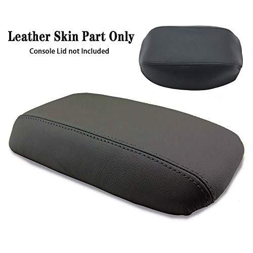 DSparts Center Console Lid Armrest Cover Leather Fit for Honda Civic 2012 2013 2014 2015 Leather Part Only Black