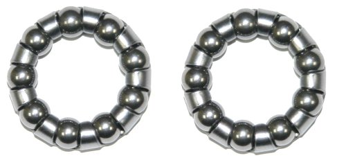 2 x Weldtite 1/4 Bottom Bracket Caged Precision Bearings by Weldtite