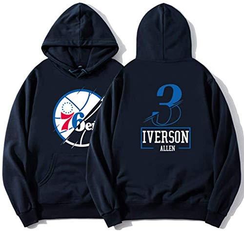Otoño e Invierno Camiseta de Baloncesto Iverson # 3 Otoño e Invierno...