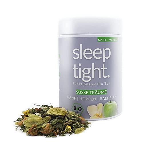 DrinkTea Sleep Tight Gute Nacht Tee   natürlich süß   loser funktionaler Bio Kräuter-Tee   Apfel-Vanille   Hanf, Hopfen, Baldrian   beruhigender Schlaf-Tee   sleep well tea (60g)