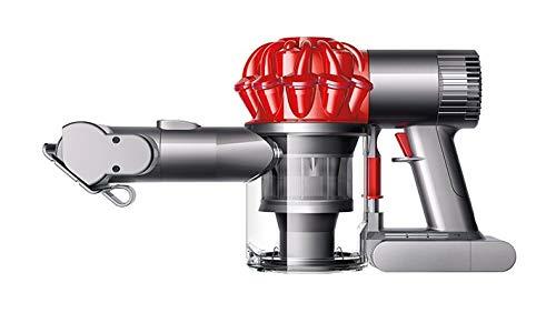 Dyson 216855-01 V6 Car und Boat Extra Handstaubsauger mit 2 Saugstufen / 20 Min Laufzeit / 350 W / 12V-Ladegerät, 1 L, Iron / rot