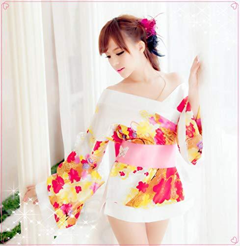 MEN.CLOTHING-LEE Damen-Reizwäsche Nachtwäsche & Bademäntel für Damen Sexy japanische Strickjacke Stil Sexy Pyjamas Hotel Sauna Bad Kleidung Uniform Verführung Kimono-_One Größe