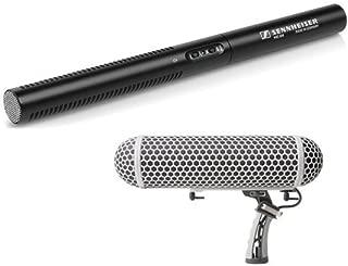 Sennheiser MKE 600 - Shotgun Microphone and Marantz Professional Blimp-Style Microphone Windscreen & Shock Mount