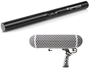 Sennheiser MKE 600 - Shotgun Microphone and Marantz Professional Blimp-Style Microphone Windscreen & Shock Mount