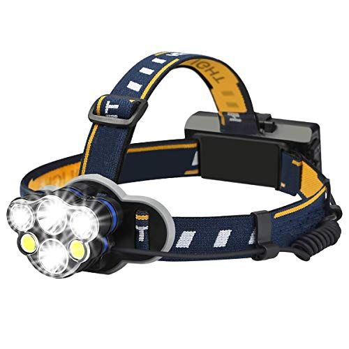 RMXMY Éblouissement à Del Rechargeable Super Lumineux Multifonctions monté sur la tête économique Pratique Nuit de Conduite à Cheval Lampe de Mineur de Travail de Base