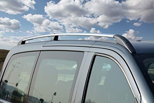 Barras de techo aptas para Mercedes Clase V extralargas W447 a partir de 2014 en aspecto cromado con TÜV y ABE.