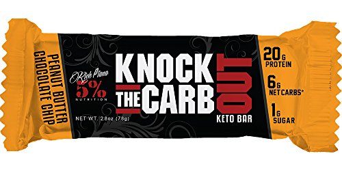 Rich Piana 5% Nutrition 'KTCO' Knock The Carb Out Keto Bars, High Protein Snack, Low Sugar, Keto-Friendly Meal Replacement with...
