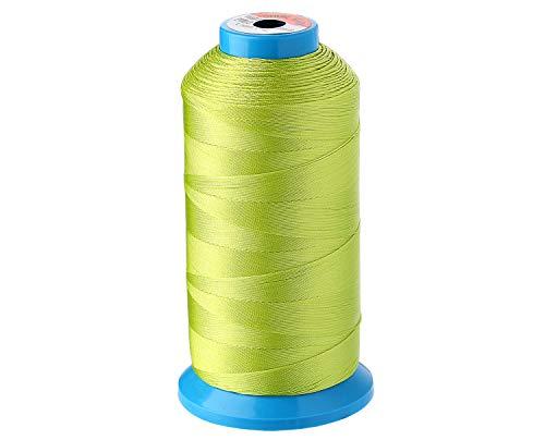 1500 Yardas Hilo de Costura de Nylon, Bobinas de Dilo Premium para Todas las Máquinas de Coser de Bordado y Coser a Mano en Casa (verde lima claro)